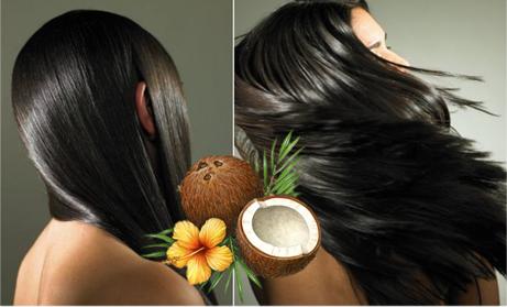 huile de noix de coco pour les cheveux