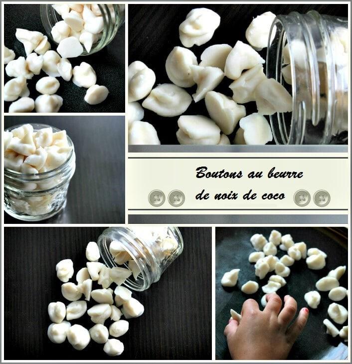 recette boutons au beurre de noix de coco