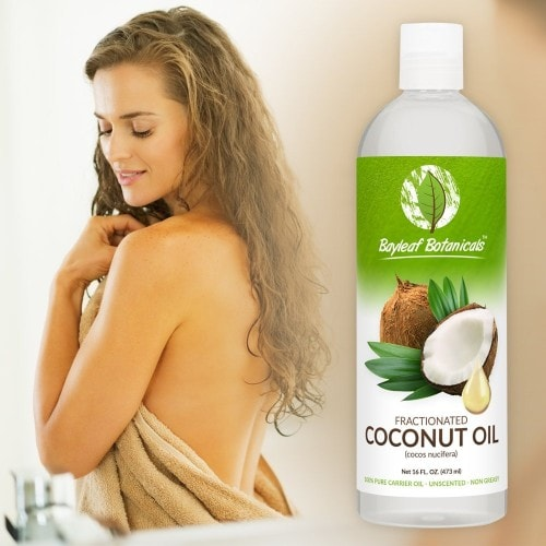 huile de coco sur la peau